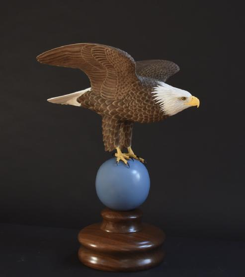 Hand Carved Bald Eagle